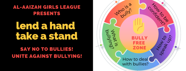 Lend a Hand, Take a Stand – say NO to bullying